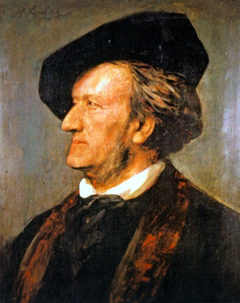 Richard Wagner. Málverk eftir Franz von Lenbach.