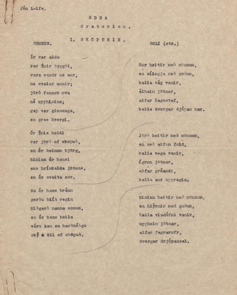 Edda - Oratorium Sköpunin.