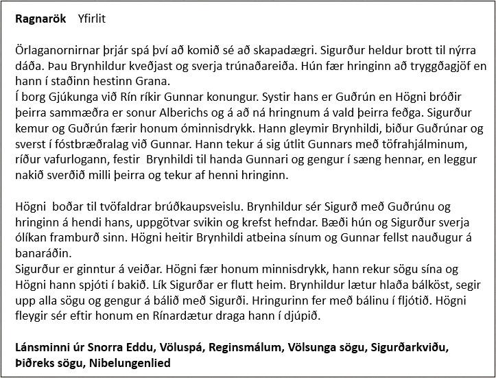 Ragnarök - Yfirlit