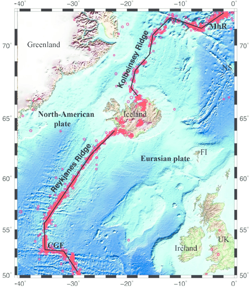 Flekamót á Norður-Atlantshafshryggnum